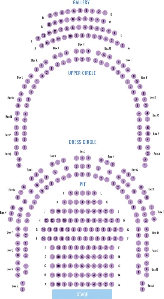 Seating Plan Bury St Edmunds Theatre Royal