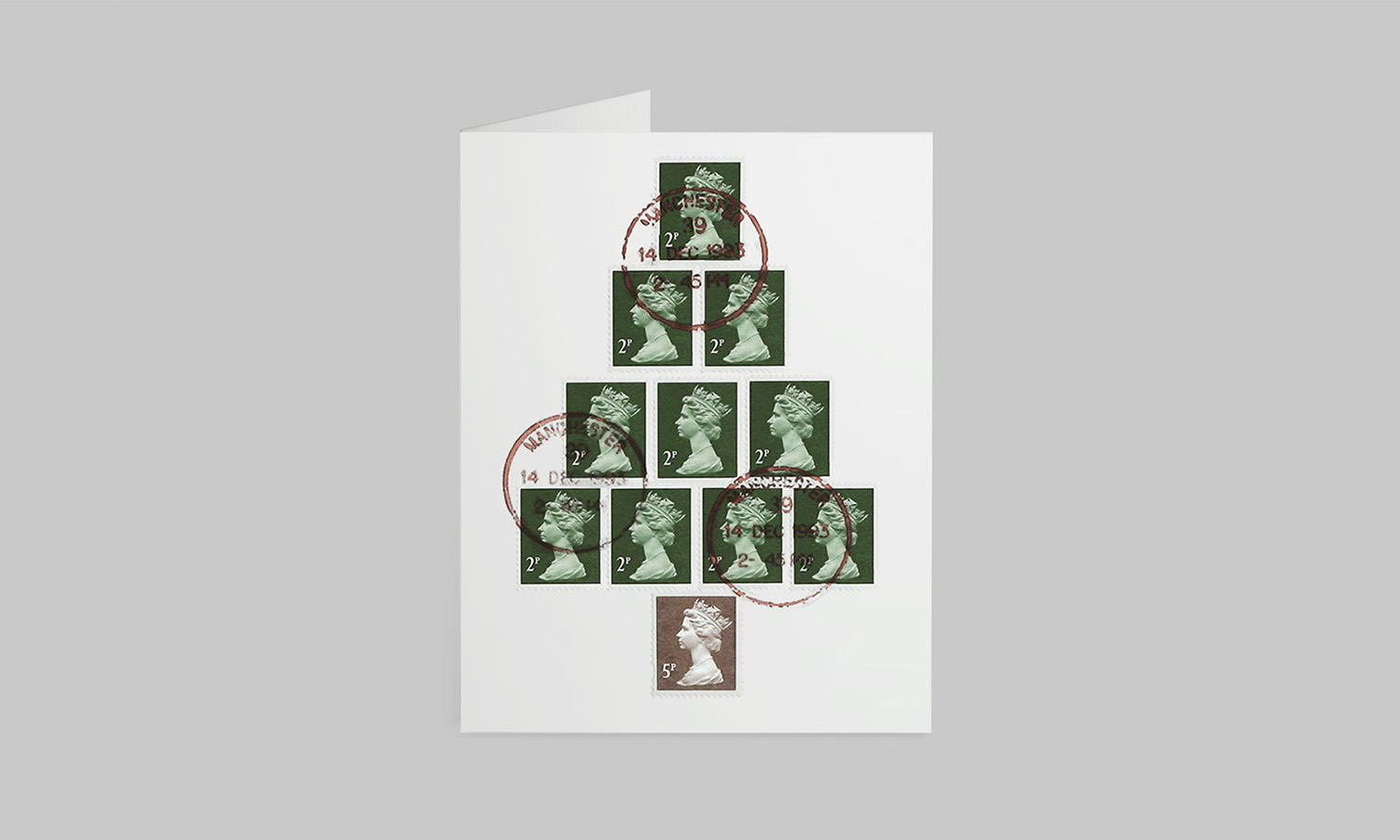 The Chase Christmas Card Stamp Design