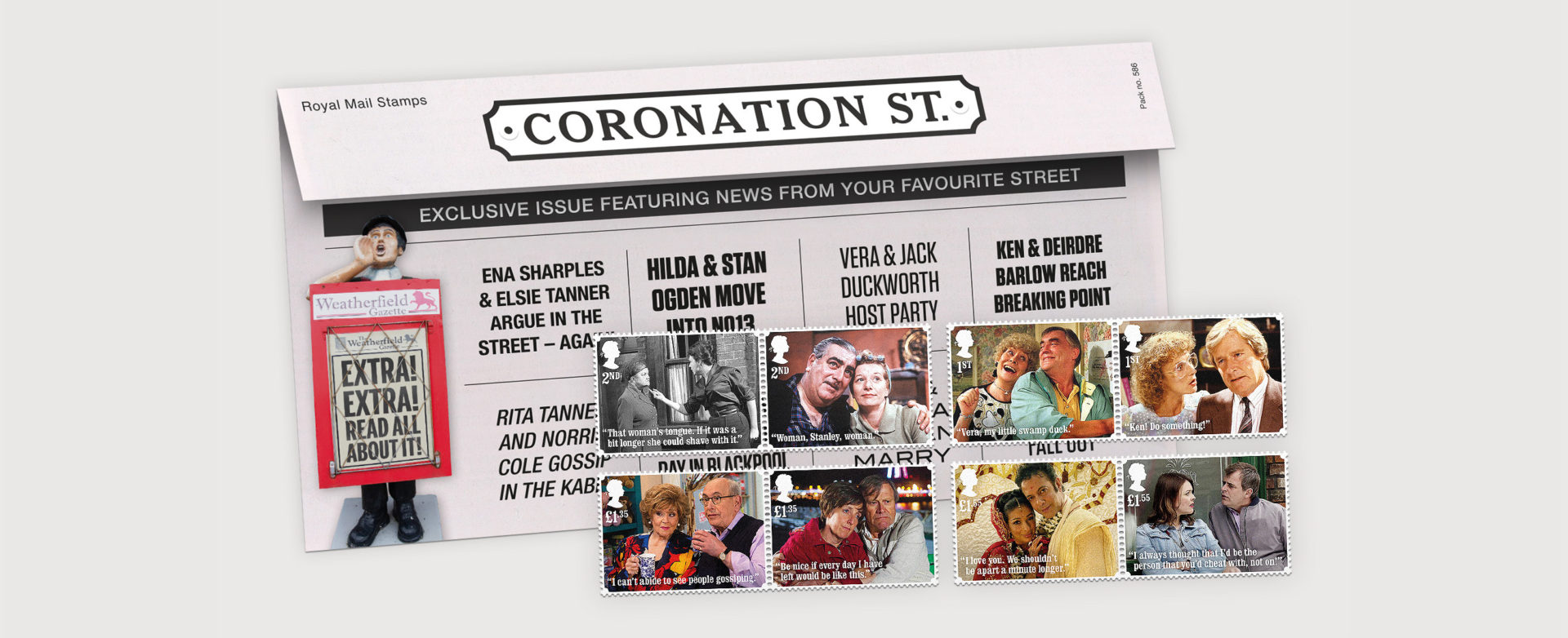 Coronation Street Presentation Pack and Stamps