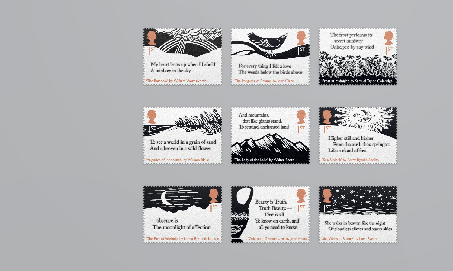 Royal Mail Poetic Stamp Designs