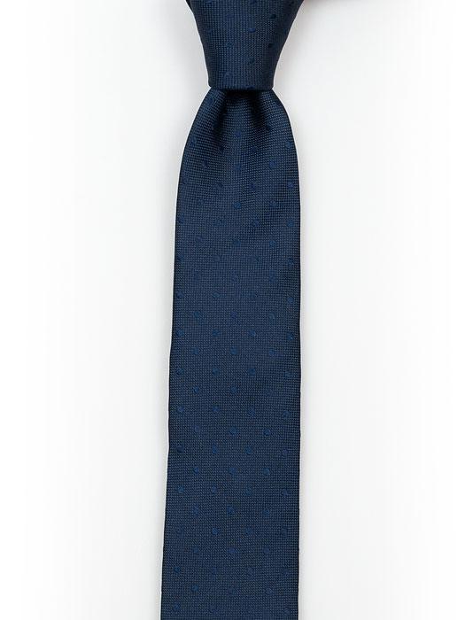 Barnslips i Siden - Marinblå med prickar ton-i-ton - Notch BRUDGUM Navy blue