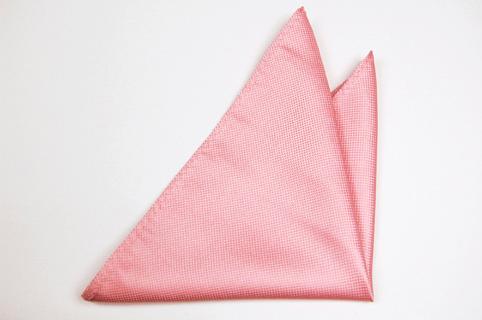 Bröstnäsduk i Siden - Rosa strukturerad botten - Notch DENNIS