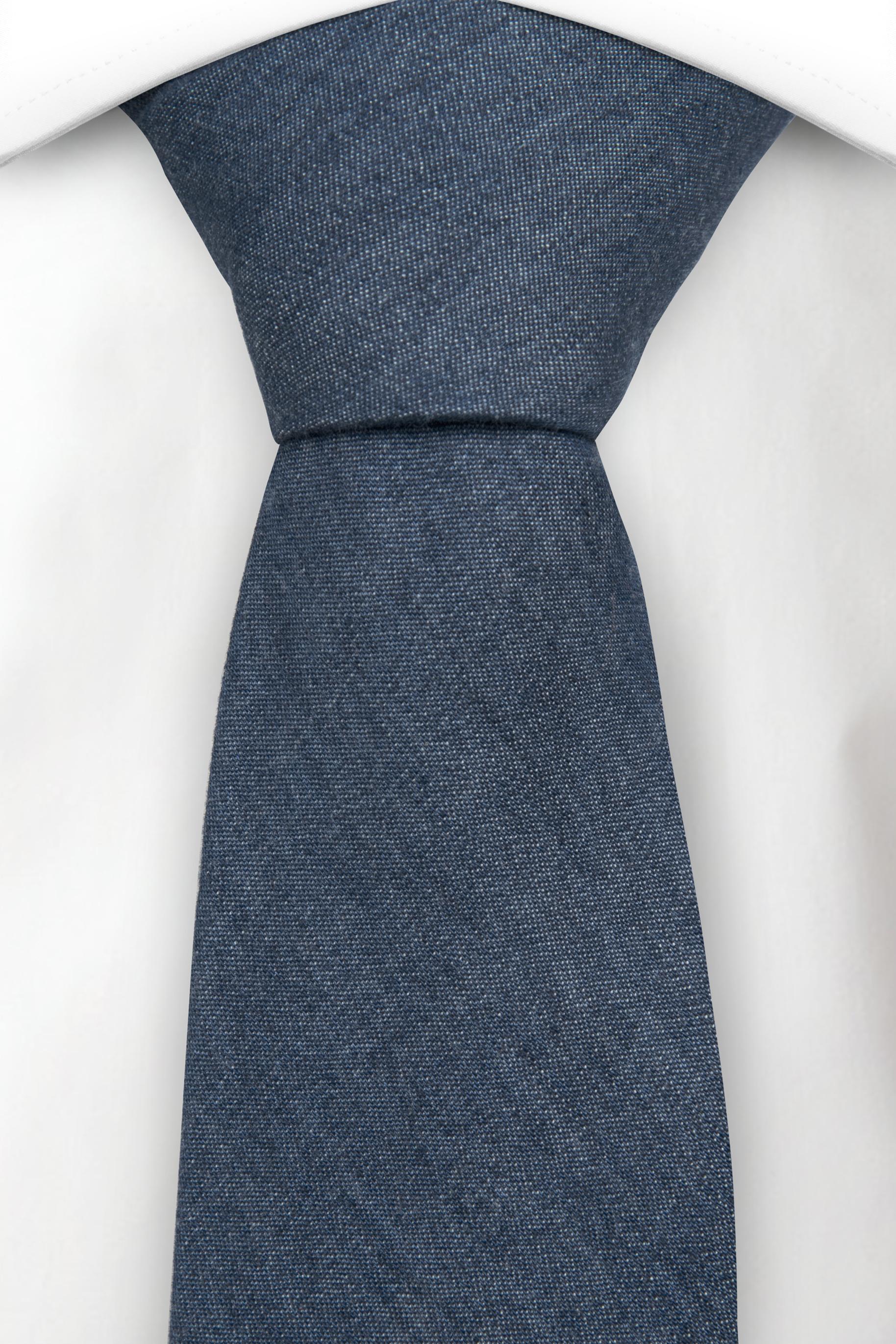 Slips i Bomull - Enfärgat blått jeanstyg - Notch FARKKU