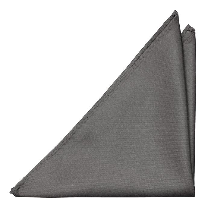 Bröstnäsduk i Siden - Enfärgad botten i mellangrått - Notch FERDINAND