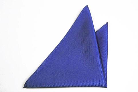 Bröstnäsduk i Siden - Diskret randstruktur i enfärgad mellanblå - Notch FRANS