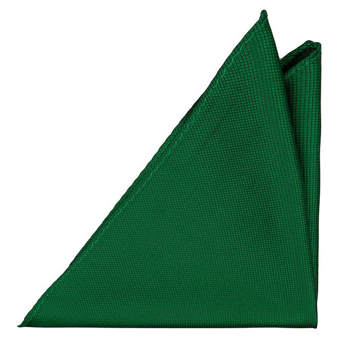 Bröstnäsduk i Siden - Diskret rutstruktur enfärgad i grön - Notch HECTOR