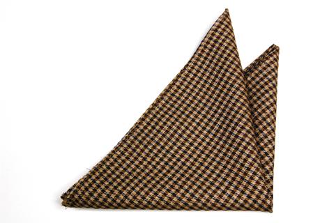 Bröstnäsduk i Ull - Mönster i beige, brunt och mörkblått - Notch HOLGER