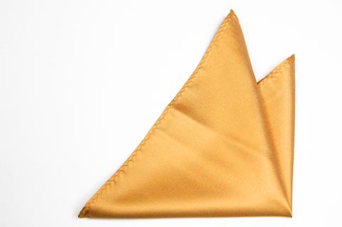 Bröstnäsduk i Siden - Enfärgad gul botten och en lätt struktur - Notch KIMMO