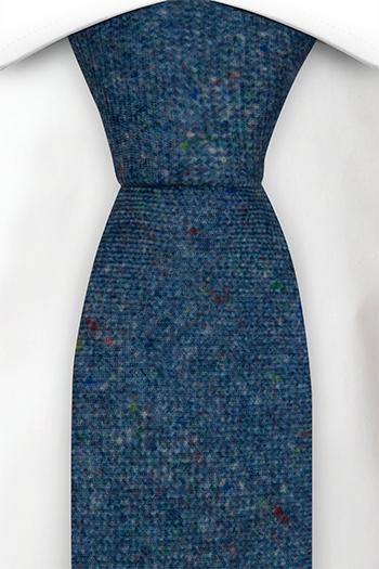 Slips i Ull - Blå bas strösslad med färgprickar - Notch MACULATO Blue