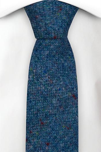 Smal Slips i Ull - Blå bas strösslad med färgprickar - Notch MACULATO Blue