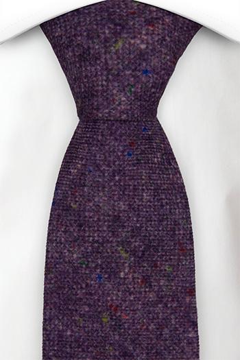 Slips i Ull - Lila bas strösslad med färgprickar - Notch MACULATO Purple