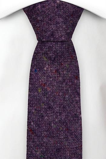 Smal Slips i Ull - Lila bas strösslad med färgprickar - Notch MACULATO Purple