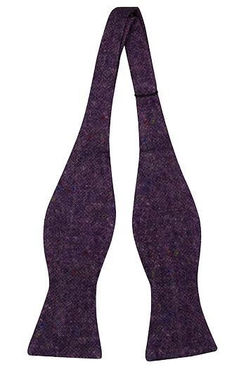 Oknuten Fluga i Ull - Lila bas strösslad med färgprickar - Notch MACULATO Purple