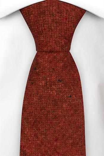 Slips i Ull - Roströd bas strösslad med färgprickar - Notch MACULATO Rusty red