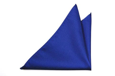 Bröstnäsduk i Siden - Blå botten och småprickig struktur - Notch MILTON