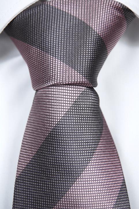 Slips i Siden - Silvergrå med rosa ränder - Notch NELSON