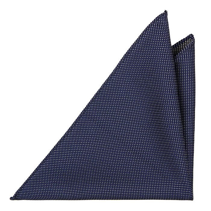 Bröstnäsduk i Siden - Mörkblå botten och minimala prickar i vitt - Notch RAFAEL