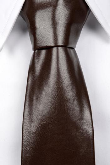 Slips i Läder - Matt brun, ådrig struktur - Notch ROY