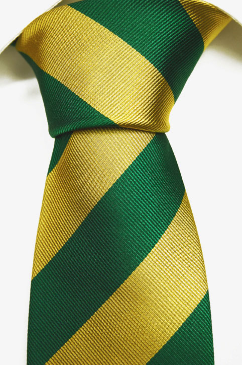 Slips i Siden - Ursnygga ränder i gult och grönt - Notch TEDDY