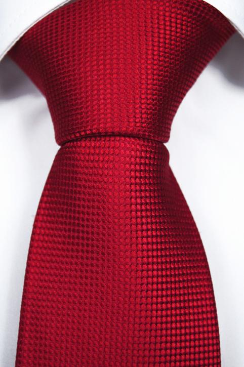 Slips i Siden - Diskret prickstruktur i två röda toner - Notch THEO