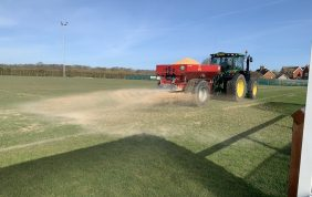 Pitch undergoes Verti-Draining