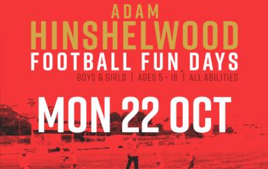 Adam Hinshelwood Football Funday – 22nd Oct   BOOK NOW
