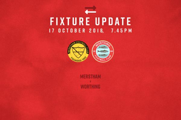 Fixture Update: Merstham [A] – League