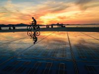 zadar-cyclist-sunset
