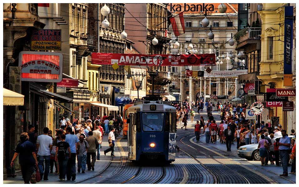 Ilica street in Zagreb