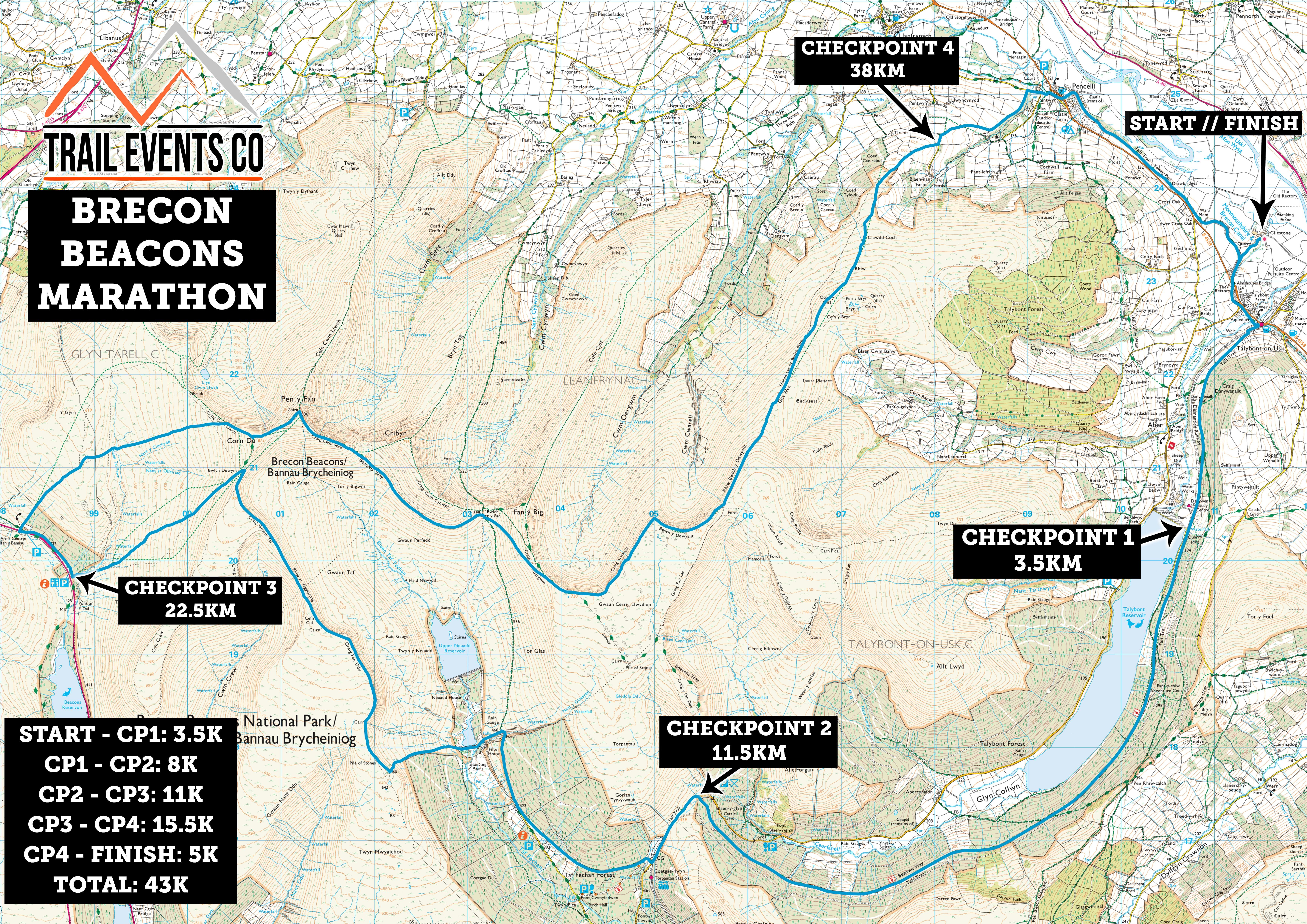 Marathon Brecon Beacons 2019 - Trail Events Co