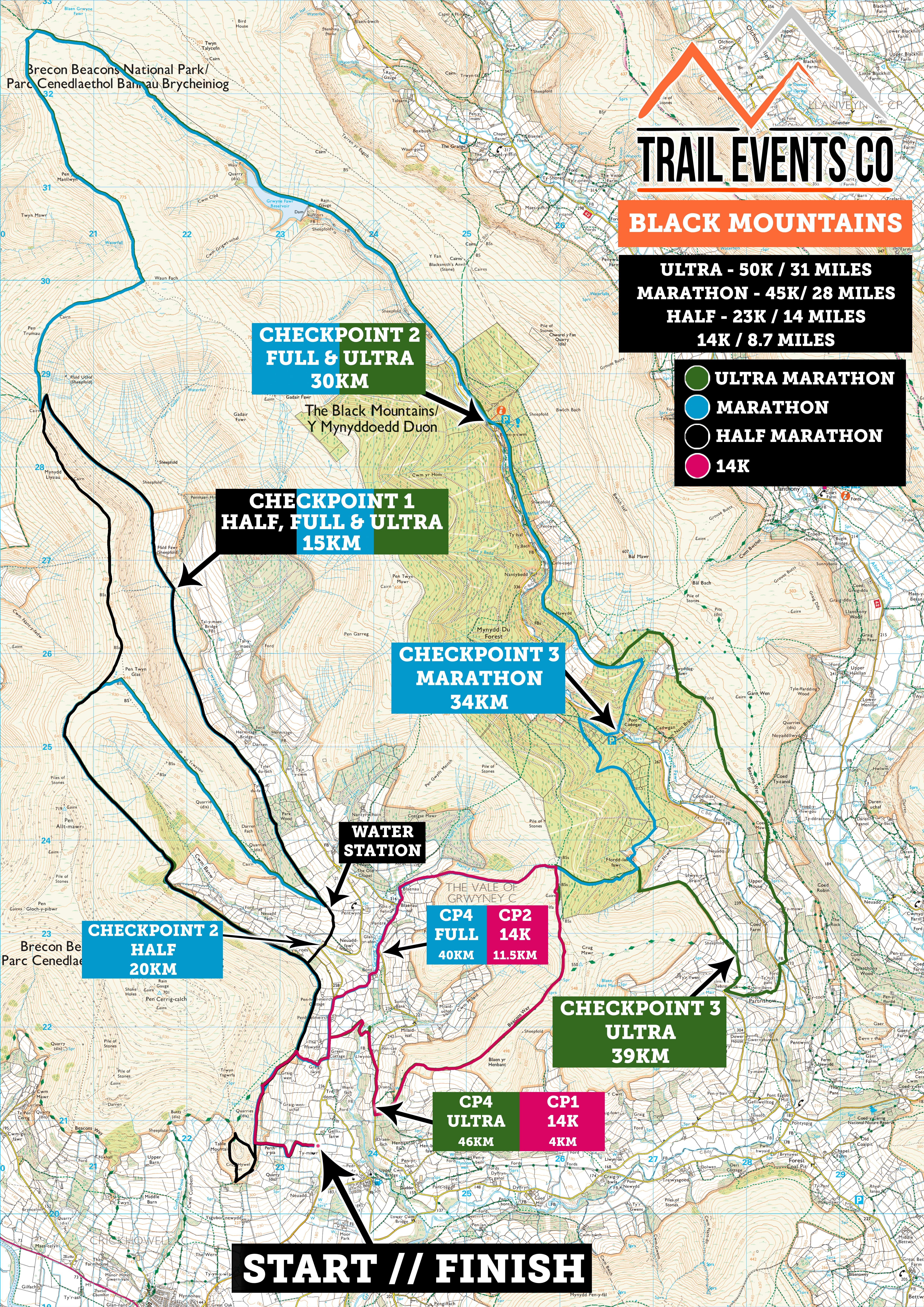 Black Mountains Multi Route