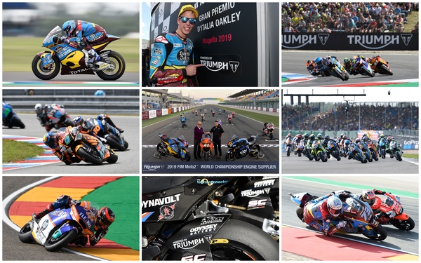Triumph 765cc triple redefines the Moto2™ World Championship  in remarkable first year (collage)