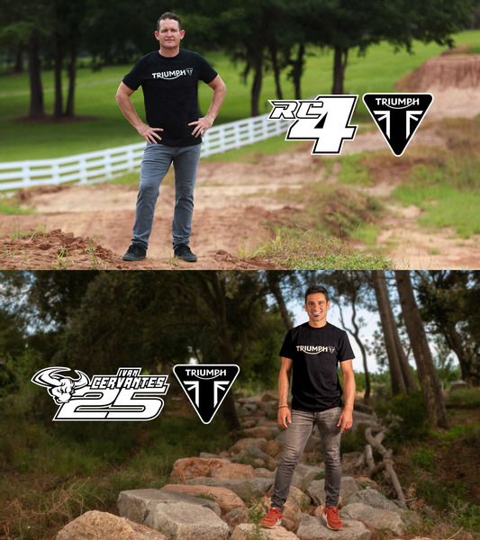 Ivan Cervantes (below) and Ricky Carmichael (above), Triumph motorsport partners