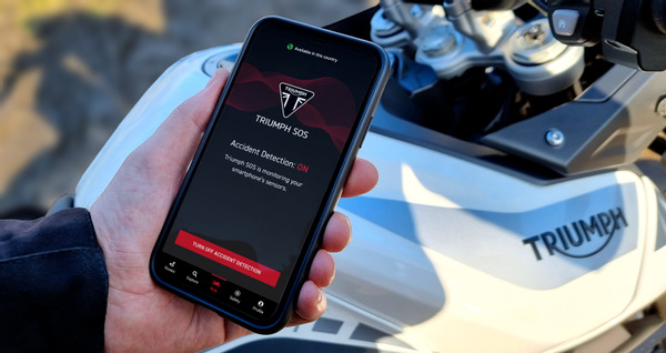 Triumph SOS Motorcycle Accident Detection And Emergency Alerting System