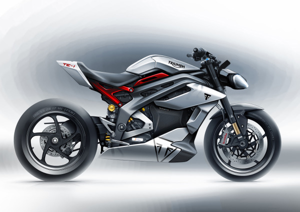 Project Triumph TE 1 Prototype Motorcycle Design