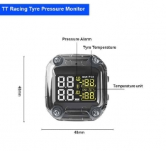 Universal Tyre Pressure Monitoring System with 2 External Sensors