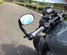 Universal Oval Motorcycle Bar End Mirrors