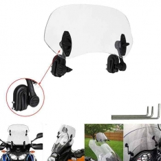 Universal Motorcycle Windscreen Extension   Wind Deflector