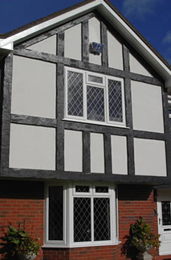 Exterior Mock Tudor Planking