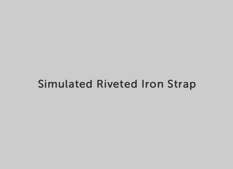 Simulated Rivited Iron Strap