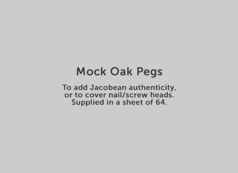 Mock Oak Pegs