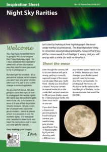 Inspiration Sheet: Night Sky Rarities