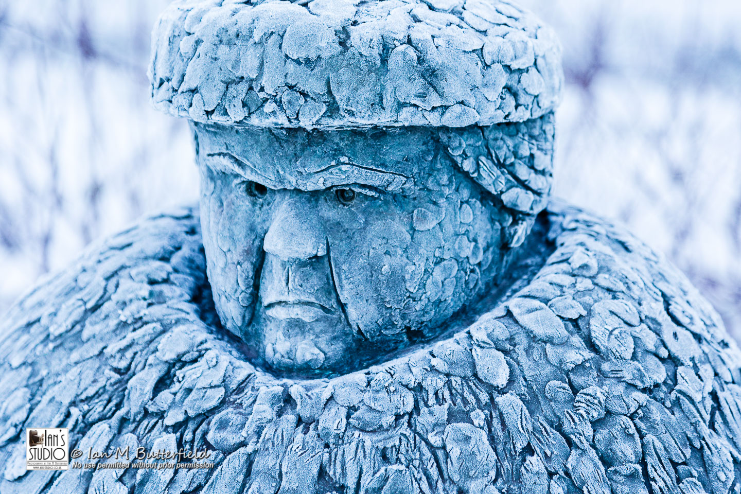 ACADEMY BITE: Snow and Ice #6 – Statue of a grumpy woman