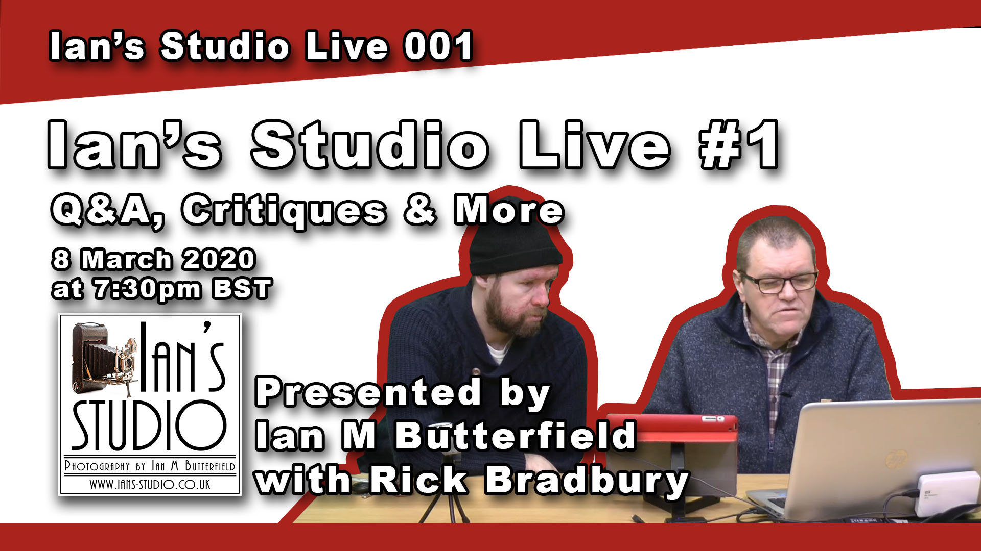 6 Mar 2020 NEWS: Ian's Studio Live! (Sunday at 7:30pm)