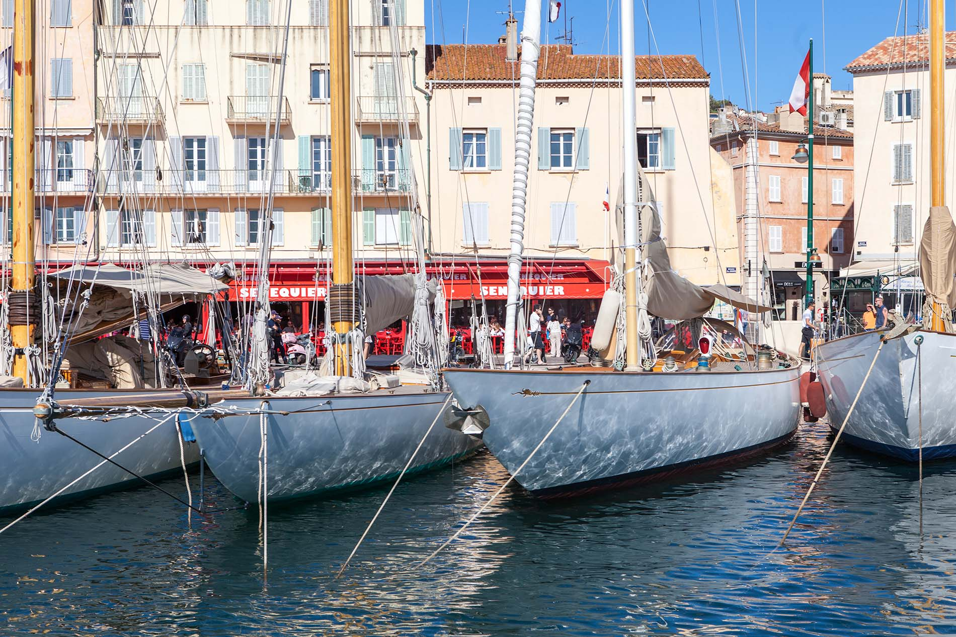 Saint Tropez yachts in the harbour
