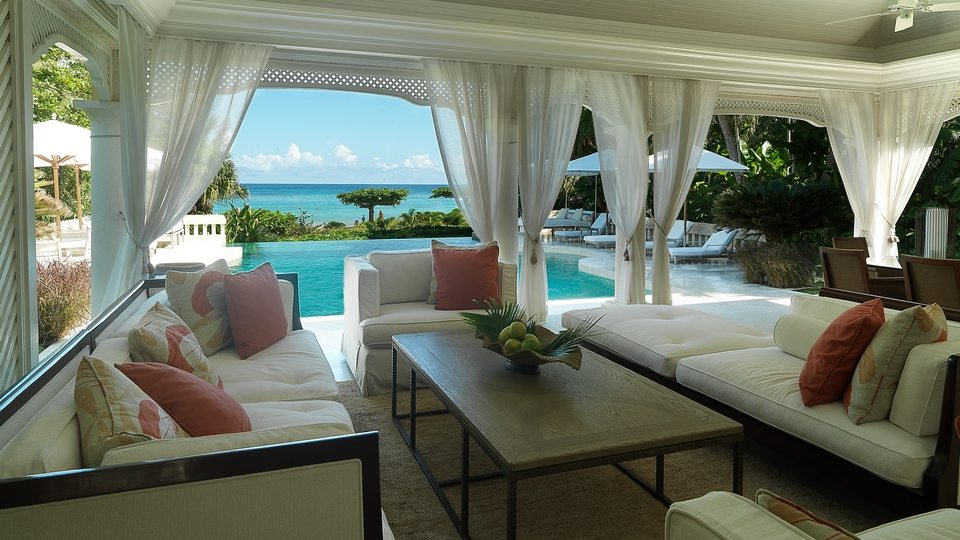 Roaring Pavilion, in Jamaica, is a fully staffed super-deluxe villa with five bedrooms and a spa.