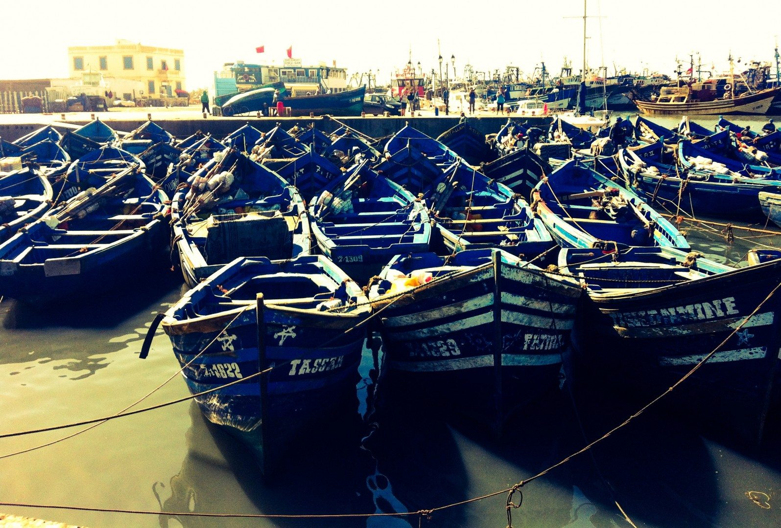 essaouira boats - je t'aime me neither