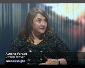 Ayesha Vardag discusses Murdoch/Deng divorce on Newsnight