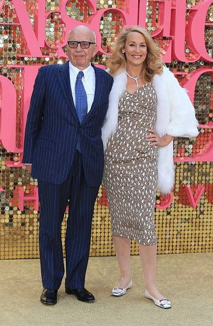 Rupert Murdoch and Jerry Hall engaged