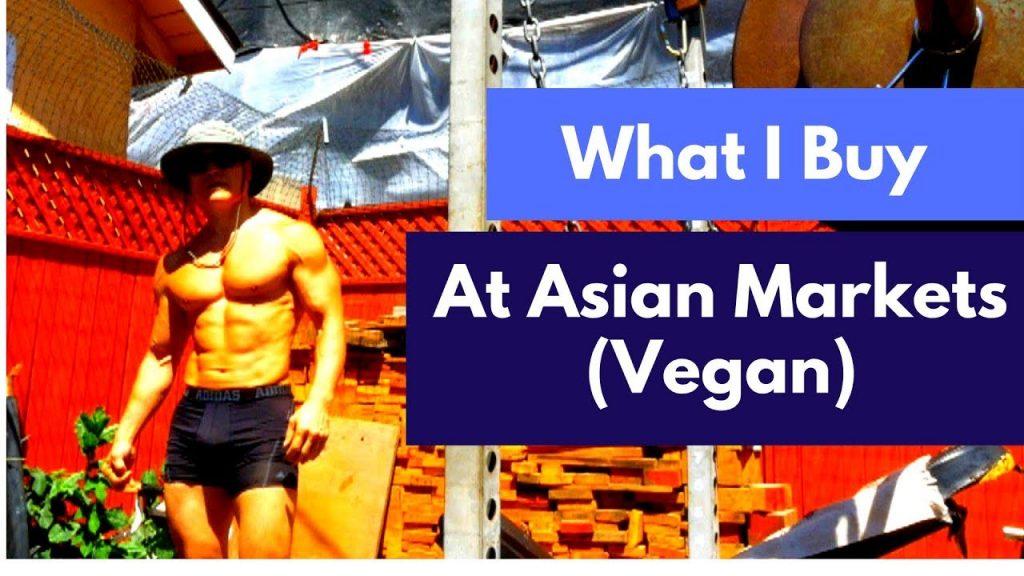 Vegan food shopping at an Asian market. Rice noodles.  Deload week.
